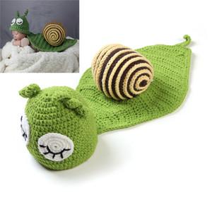 Foto do bebê adereços recém-nascidos fotografia set baby photography accessories baby Caracol verde Boy girl hat recém-nascidos foto tirada 0-3M
