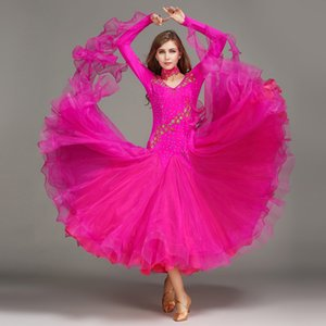 Femmes Standard Ballroom Dresses Lycra Costume De Danse Extensible Adulte Valse Ballroom Compétition Danse Dres