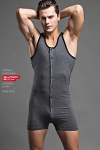 Mens Sexy Body Marca Superbody Uomini BodySuit Gay Pene Pouch Uomini Bodywear Canottiera Sleepwear Cotton Bodybuilding 1506-UW
