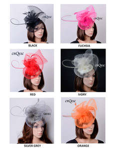 NEW ARRIVAL.large sinamay fascinator hat crin fascinator con Feathers para kentucky derby, bodas, fiestas, carreras