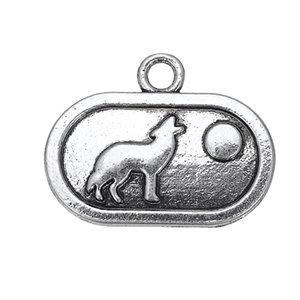3 стиль Античное серебро Волк подвески мотаться висит прекрасные животные Шарм DIY ювелирные изделия аксессуары подвески 50 шт./лот