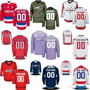 Großhandel 2016 Neue Top Qualität Benutzerdefinierte Washington Capitals Männer Jugend Premier Real Style Voll Stickerei Personalisieren Billig Hockey Trikots