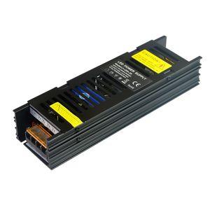 SANPU Slim Электропитание 12V 24V 200W AC к DC Освещение Трансформатор LED Драйвер Черный Алюминий для светодиодов Полоски Горит