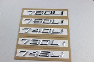 автомобиль стайлинг новый ABS черный / серебристый 745 730 740 750 760 LI автомобиль refit смещение emblems.car хвост декор наклейка для BMW 7 серии
