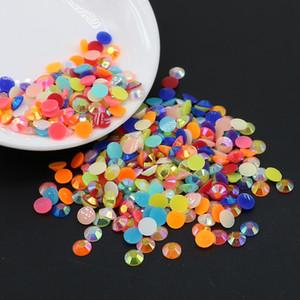 Jelly AB Mix colors Resin Flat back Rhinestone 3 mm, 4 mm, 5 mm, 6 mm precio al por mayor