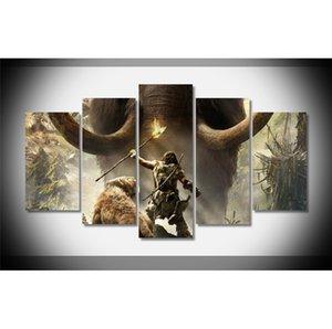 5 панелей Far Cry Primal современный абстрактный холст масляной живописи печати стены искусства декора для гостиной украшения дома в рамке / без рамы