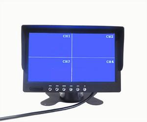 7 pollici TFT LCD Car Truck PZ711 4 Quad Monitor 4 canali di ingresso video Display automaticamente quando si inverte DC12V 24V