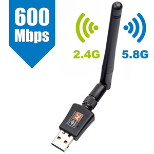 AC600 600M 802.11AC Laptop Dual Band 2.4G + 5GHz USB Wireless / WiFi AC Gigabit Adapter AC Adapter Wi-Fi-Empfänger