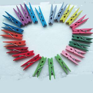1200 Parça Renkli Ahşap Ahşap Mini Bahar Clothespins Klip Scrapbooking Craft Fotoğraf Kağıdı Peg Klipler Dekor Hızlı Ücretsiz Kargo
