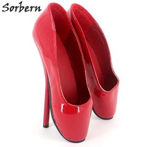 Sorbern Femmes Ballet Chaussures À Talons Minces Plus La Taille Mesdames Unisexe Gay 18CM / 7 '' Talons De Mode Slip On Custom Made Dance Wedding Party