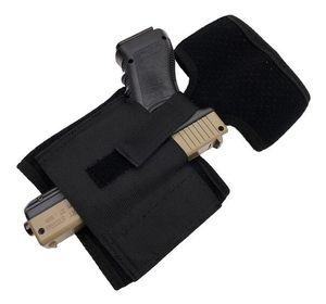 Caché Universel Noir Carry Tactical Réglable Ventre Bandit Taille Pistolet Pied Jambe Respirant Pistolet Étui De Plein Air Veste Rembourrée Sangle Pistolet Yi