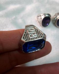 التبت التبت الفضة خاتم سلام الصين الشحن مجانا 19-20 ملم في V2 بقطر