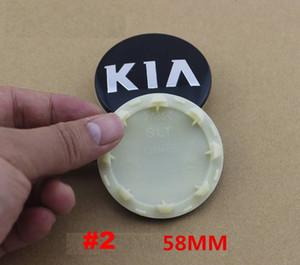 58mm tekerlek göbeği kapağı merkezi kapaklar uygun kia cerato, avrupa tarzı, sportage, sportage / k3 / 12 / k5models göstermek seul / optim