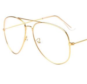 2017 marke Klare Gläser Frauen Klassische Optik Gläser Aviation Legierung Rahmen Transparente Linse Gläser Männer Sonnenbrille Weibliche Oculos