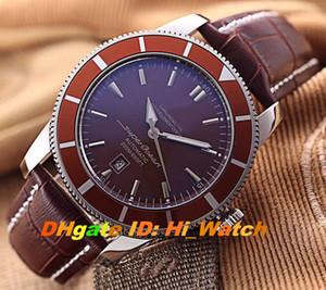 Новый Superocean Heritage A1732016 Brown ободок COFFER коммутируемого A2813 Автоматическая Мужские часы черный кожаный ремешок 7 цветов Часы Hi_watch BRE-A78a1
