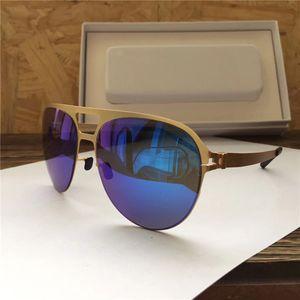 Neue MYKITA Beliebte Sonnenbrille Pilot Frame Keine Schrauben Designer mit Spiegel Objektiv Ultra Light Frame mit Original Box