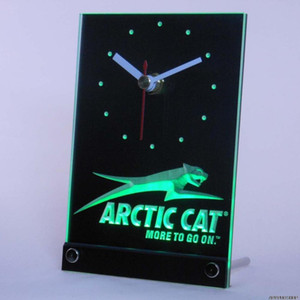 Gros-tnc0168 Arctic Cat Motoneiges Table Bureau LED 3D Horloge