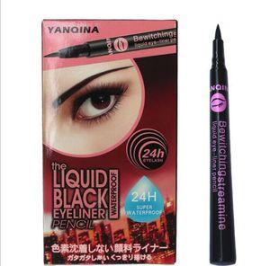 Marca YANQINA Impermeable Líquido Negro delineador de ojos Lápiz 24 H Maquillaje Herramientas de Belleza Partido delineador de ojos líquido Cosméticos Precio Más Bajo