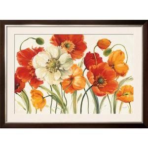 Handgemachte Shirley Novak Gemälde Mohnblumen Melody moderne Kunst Blumen Öl auf Leinwand für Wohnzimmer Dekor