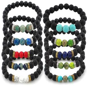 16 styles pierres de lave 7 bracelet de pierre de chakra parfum arôme bracelet diffuseur d'huile essentielle bracelet meilleur vendeur préféré B348S