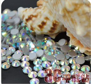 Crystal AB SS6 Nail Art Rhinestones Crystal Rhinestones 3D Nail Art Decoration Jewelry Accessories Flat Back Stone