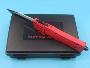 Promotion Large Size 616 Red Handle Auto Tactial Knife 440C 58HRC Single Edge Tanto Half Serration Blade Tactical Gearz