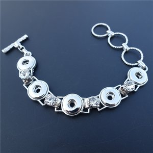 Regalo dei monili di lusso di modo delle donne con strass Noosa Pezzi di metallo Ginger 12 millimetri Snap 12pcs Bracciale Button / lot