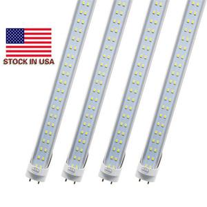 LED Tube Lumières 4 pi 4 pieds 22W 28W LED Tubes Fixture 4FT couvercle transparent G13 120V Ampoules d'éclairage au détail / gros