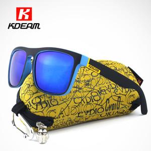 Kdeam al por mayor de moda gafas de sol polarizadas para los hombres de las mujeres Gafas de sol Plaza gafas de sol polarizadas con la caja