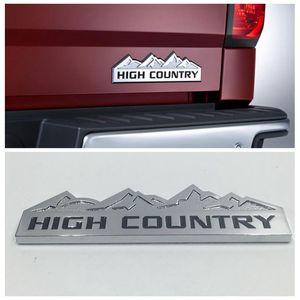 Para Chevrolet Silverado Car Fender ou cauda Portão Chrome emblema etiqueta High Country Logo Emblem placa de identificação