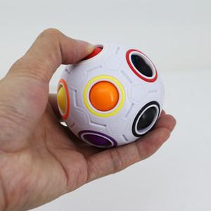 Novo Cubo Rainbow Ball Magic Speed Divertido Futebol Criativo Puzzles Esféricos Crianças Brinquedos de Aprendizagem Educacional jogos para Crianças Presentes para Adultos HH-T07