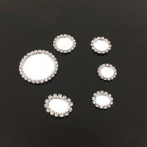 도매 100pcs 화이트 Flatback 매력 라인 석 기본 설정 펜던트 맞는 카보 숑 DIY 헤어 쥬얼리 크기 32mm / 22mm / 18mm / 16mm