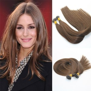Remy Nano Ring Extension # 4 Capelli Vergini Brasiliani Neri Brasiliani Pre bonded Mrico Nano Beads Anello Loop Hair Extensions 1g / str