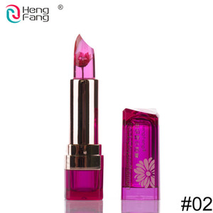 Factory price HengFang Flower Lipstick Color Change on Temperature Food grade lipstick blackish chrysanthemum moisturizing