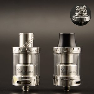 100% Original Tesla Carrate 24 RTA Tank 2.5ML Large Caliber Delrin Drip Tip Adjustable Air Flow Atomizer E Cigarette DHL Free