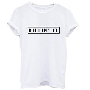 Atacado- 2016 casual femme poleras manga curta camiseta camisas femininas palavra impressão ropa mujer tumblr feminino vetement mulheres t-shirts