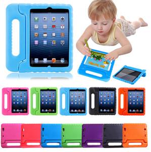 Crianças Crianças Handle pé EVA espuma à prova de choque Capa Stand For iPad New 2017 2 3 4 ar 2 Mini 4 Case para Galaxy Tab portátil 3D bonito
