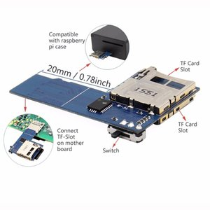 Freeshipping Raspberry Pi 3 Dual System Dual T-F C-ard Adapter Memory Board | 2 In 1 Dual T-F Micr-oS-DC-ard Adapter for Raspberry Pi Zero W