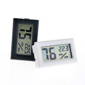 2020 Yeni Siyah / Beyaz FY-11 Mini Dijital LCD Çevre Termometre Higrometre Nem Sıcaklık Ölçer Oda Buzdolabı Icebox