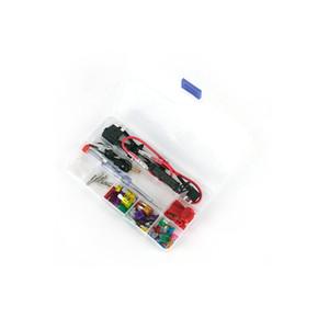 12v Car Add-a-circuit blade Fuse TAP Adattatore ATM APS ATT Portafusibile con linea dell'elettrodo negativo, fusibile 30pcs, estrattore per fusibili, morsetto filo, w