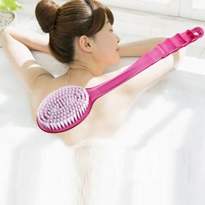 2017 Yeni Banyo Fırça Uzun Sap Sünger Vücut Fırça Masaj Bath duş Geri Spa Scrubber Yumuşak Banyo Fırçaları Kırmızı Mavi Yeşil WX-T04