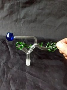 Choi Longburner Bongs Zubehör, Glass Water Pipe Pfeifen Percolator Glass Bongs Ölbrenner Wasserpfeifen Ölplattformen Rauchen