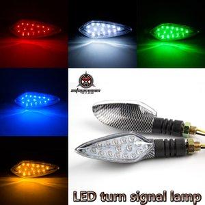 2019 Yeni Universal 12 LED Motosiklet Dönüş Sinyalleri Işıklar Motosiklet Gösterge Blinkers Amber Işık Lamba 12V Motosiklet Işıklar Parçaları Bükülebilir