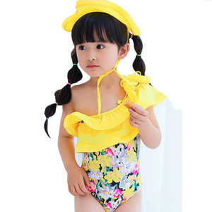 chicas de estilo clásico plátano traje de natación con cap niñas hermosa elegir niños tutu traje de baño DHL para el envío libre I201663001