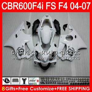 8Geschenkte 23 Colors für Honda CBR 600 F4i CBR600F4I 04 05 06 07 AAHM8 CBR600FS FS Dragon White CBR600 F4i CBR 600F4I 2004 2005 2006 2007 Verkleidung