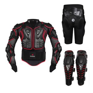 Nuova Moto Motocross Off-Road Enduro Racing Full Body Protective Gear Protector Armatura Jacket + Hip Pads Shorts + Ginocchiere