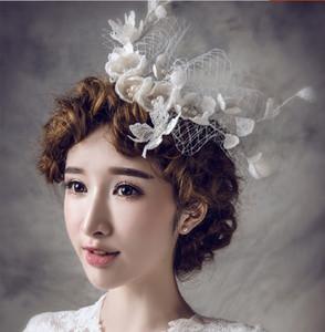 Düğün başlığı için gelin başlığı headpieces çiçek kız saç aksesuarları toptan gelin düğün saç aksesuarları düğün veils keten çiçekler