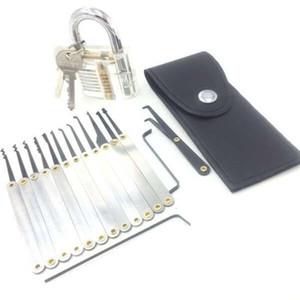 16pcs formation verrouillage Pick-Set Outils pratiques Serrurier avec Cutaway transparent pour Opener déverrouiller la porte Livraison gratuite