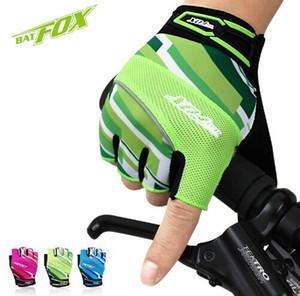 2017 verão nylon gel luvas de ciclismo meio dedo nylon road mtb bicicleta esportes luvas respirável esporte bicicleta luvas guantes ciclismo