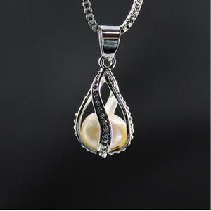 Screw Waterdrop fluorescente condoer Gota Alto grau de colares Declaração fresca Pérola Ostras amante Locket pendente para meninas jóias